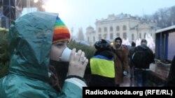 Сторонники евроинтеграции Украины на Евромайдане. Киев, 25 ноября 2013 года.
