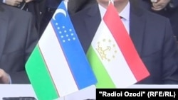 Флаги РУз и РТ.