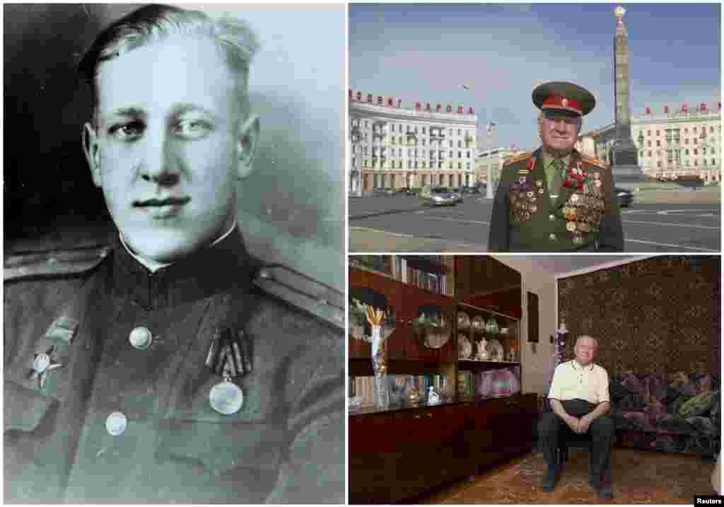 Николай Мазаник, 92 года. Белорусский офицер являлся командиром стрелкового полка Красной армии с июня 1941 по май 1945 года. Окончание войны встретил в Кенигсберге (Калининград).