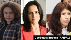Полина Паунова, Генка Шикерова и Силвия Великова