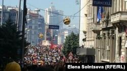 Акция протеста в Стамбуле.