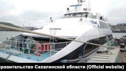 """Судно """"Пингвин-33"""" для переправы Корсаков-Вакканай"""