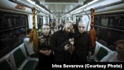 Макс Отто, Диана и Мария во время акции. Фото: Ирина Северова
