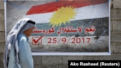 La Kirkuk cu însemnele independenței kurde