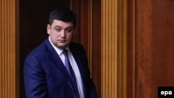 Ukraine -- Ukrainian Parliament Speaker Volodymyr Hroysman attends a parliament session in Kyiv, April 13, 2016
