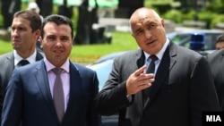 премиерите на Бугарија и на Македонија, Бојко Борисов и Зоран Заев, архивска снимка