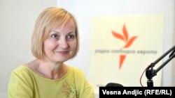 Tanja Ignjatović u beogradskom studiju RSE, jul 2016.