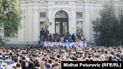 Protesti protiv zatvaranja Zemlajskog muzeja u BiH