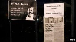 Դենիզ Յուչելին ազատ արձակելու պահանջով թռուցիկ Գերմանիայում, մարտ, 2017թ․