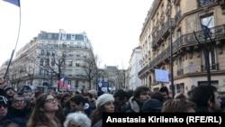 Демонстрация в поддержку Charlie Hebdo в Париже, 11 января 2015