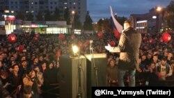 Алексей Навальный на встрече со сторонниками. Архангельск, 1 октября 2017 (фото из твиттера Киры Ярмыш)
