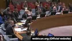 Голосование Совета Безопасности ООН по резолюции, определяющей события в 1995 году в Сребренице как геноцид. Нью-Йорк, 8 июля 2015 года.