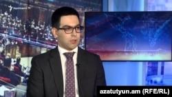 Armenian Minister of Justice Rustam Badasian in Azatutyun TV's Yerevan studio, 14Jul2019