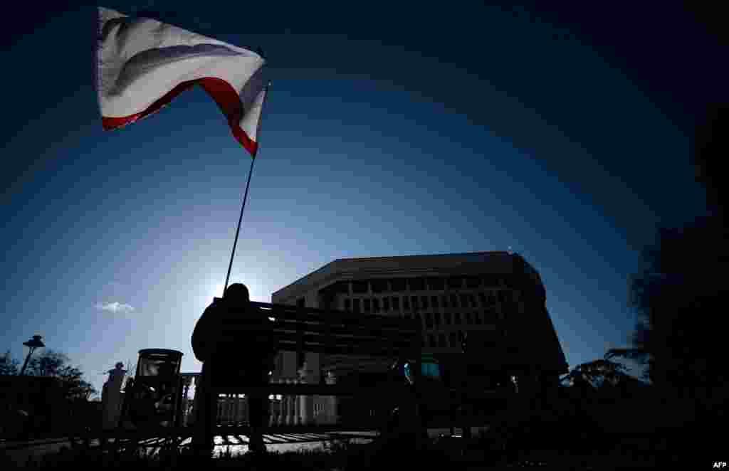 Симферополь после подписания договора о вхождении Крыма в состав России