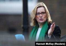 British Home Secretary Amber Rudd