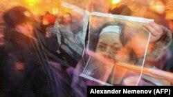 Акция в память об адвокате Станиславе Маркелове и журналистке Анастасии Бабуровой