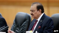 Pakistani President Mamnoon Hussain (file photo)