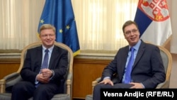 File i Vučić tokom susreta u Beogradu, 5. maj 2014.