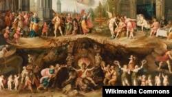 100 словаў. Франс Франкен Малодшы, «Чалавек выбірае паміж дабром і злом» (1633).