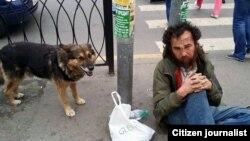 Гражданин Узбекистана Ахмадали Умаров, скитавшийся по улицам Москвы. Архивное фото.