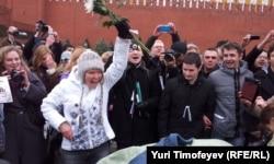 Евгения Чирикова на Красной площади в Москве
