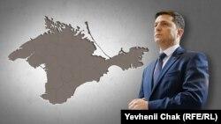 Президент України Володимир Зеленський і Крим (колаж)