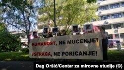 Prosvjed ispred MUP-a 22. svibnja 2020