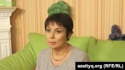 Тележүргізуші және «ДОМ» қайырымдылық қорының жетекшісі Аружан Саин. 27 қазан 2016 жыл.