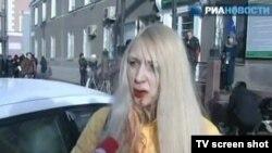 Анна Шавенкова через несколько минут после аварии