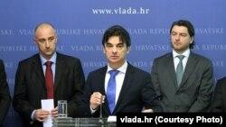 Ministar gospodarstva Ivan Vrdoljak, potpredsjednik Vlade Branko Grčić i ministar turizma Darko Lorencin