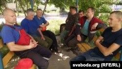 Работнікі філіялу Ўпраўленьня будаўнічай індустрыі ікамплектацыі ААТ «Гомельпрамбуд»