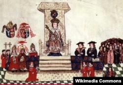 Генрык VIII выступае ў парлямэньце