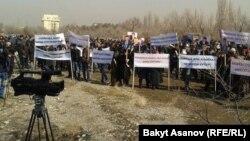 Келдибековдун тарапкерлеринин митинги. Бишкек, 12-март.