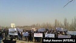 Акция в поддержку Ахматбека Келдибекова, март 2014