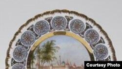 Тарелка с изображением Троице-Сергиевой Лавры. 1848 год
