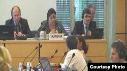 Делегация из Таджикистана на заседании ООН в Женеве. 10 июля