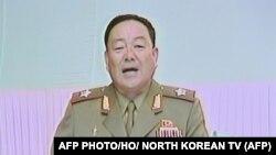 Хён Ён Чхоль в бытность министром обороны Северной Кореи.