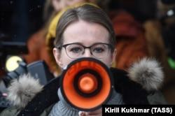 Ксения Собчак во время избирательной кампании в Бердске