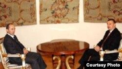 Prezident İlham Əliyevin ermənistanlı həmkərı Robert Koçaryanla görüşü