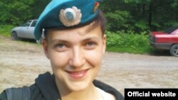Украина ұшқышы Надежда Савченко.