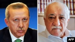 Turkish Muslim preacher Fethullah Gulen (right) used to be an ally of Turkish President Recep Tayyip Erdogan