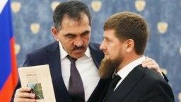 Юнус-Бек Евкуров и Рамзан Кадыров, 2016 год