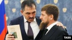 Юнус-Бек Евкуров с Рамзаном Кадыровым