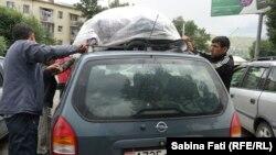 Mașina luată pe ruta Dushanbe-Kujand