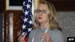 Хиллари Клитон на пресс-конференции в столице Бангладеш Дакке, 5 мая 2012