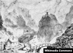 Tamara qəsri. Daryal vadisi. 1837