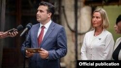 Средба на премиерот Зоран Заев со Високата претставничка за безбедност и надворешна политика на ЕУ, Федерика Могерини во Скопје.