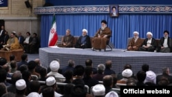 Ayatollah Ali Khamenei with Hassan Rouhani and other top officials-- 15 Nov 2019