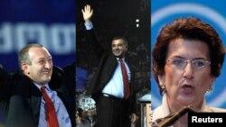Солдан оңға: Грузия президенттігіне кандадиттар - Георгий Маргвелашвили, Давид Бакрадзе және Нино Бурджанадзе.