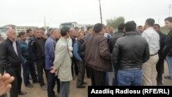 Протест водителей на строительстве дороги Алят-Астара, 29 апреля 2013